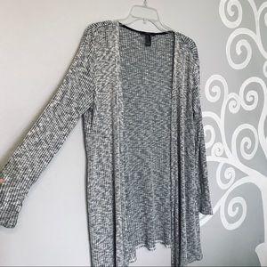 Cute heather grey long sleeve cardigan